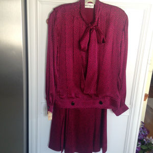 Designer SILK 2 piece dress by Albert Nipon